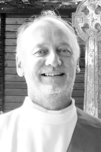 Deacon Marek Gajdus (B/W image)