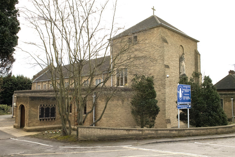 Our Lady of Peace Church, Burnham viewed from Lower Britwell Road.