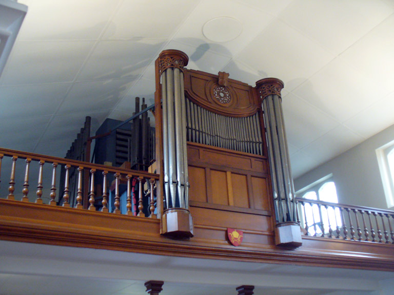 Organ loft in the nave, Our Lady of Peace.